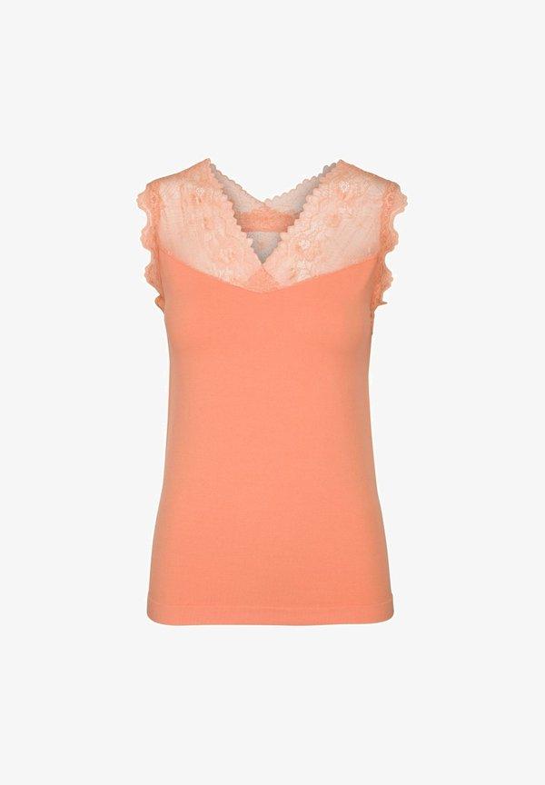 Minus VANESSA - Bluzka - apricot/pomarańczowy OJBL