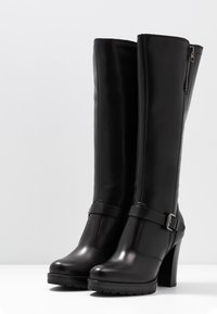 Anna Field - LEATHER BOOTS - Boots med høye hæler - black - 4