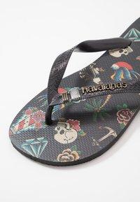 Havaianas - TRIBO UNISEX - Pool shoes - black - 2
