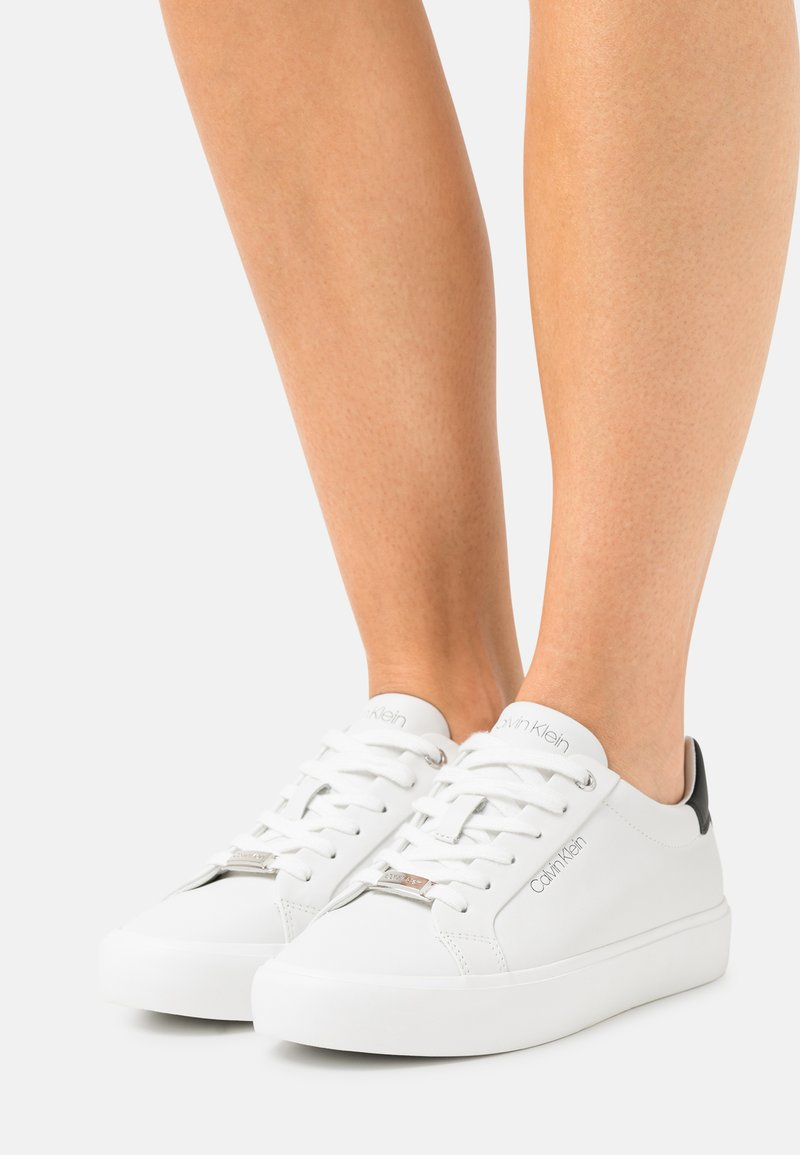 Calvin Klein - LACE UP - Trainers - white/black