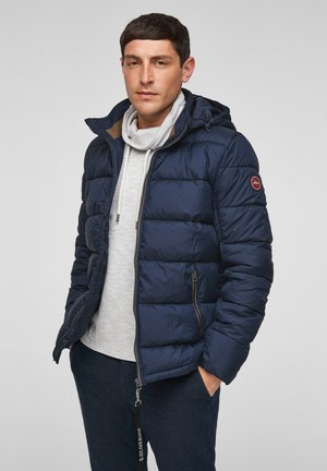 ABNEHMBARER KAPUZE - Winter jacket - dark blue