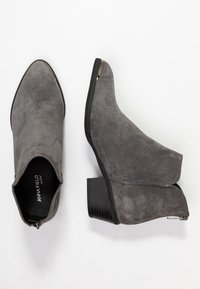 Anna Field Select - LEATHER ANKLE BOOTS - Ankle boots - grey - 3