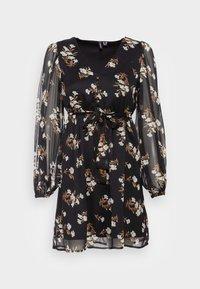 Vero Moda Petite - VMFRAYA V NECK DRESS - Day dress - black - 3