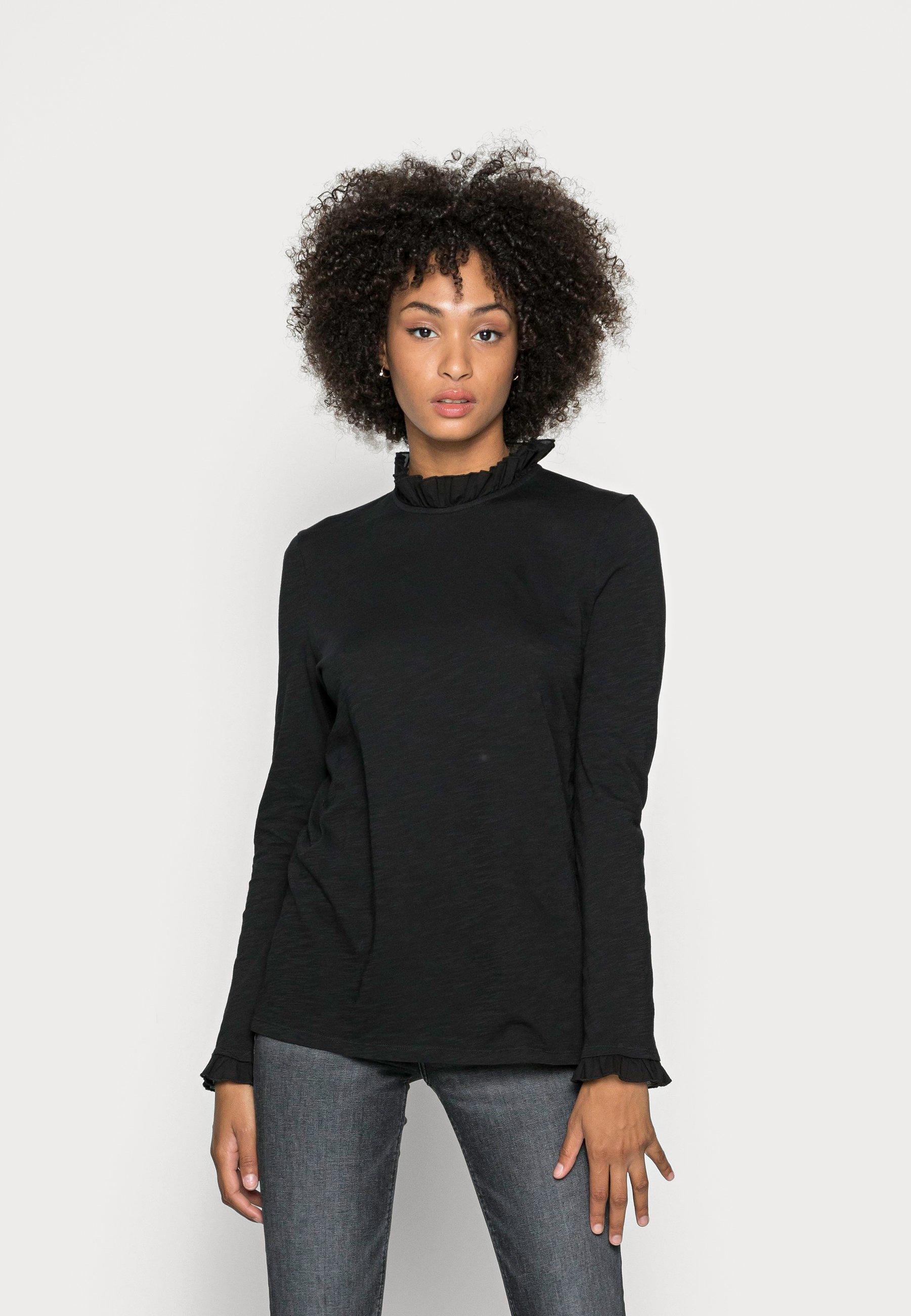 Women SLUB FRILL LONGSLEEVE - Long sleeved top