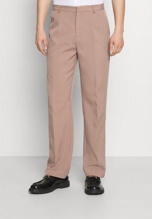 EVIAN STRAIGHT LEG SUIT TROUSER - Pantalon classique - stone