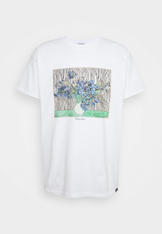 VINCENT FRONT PRINT TEE UNISEX - T-shirt con stampa - white
