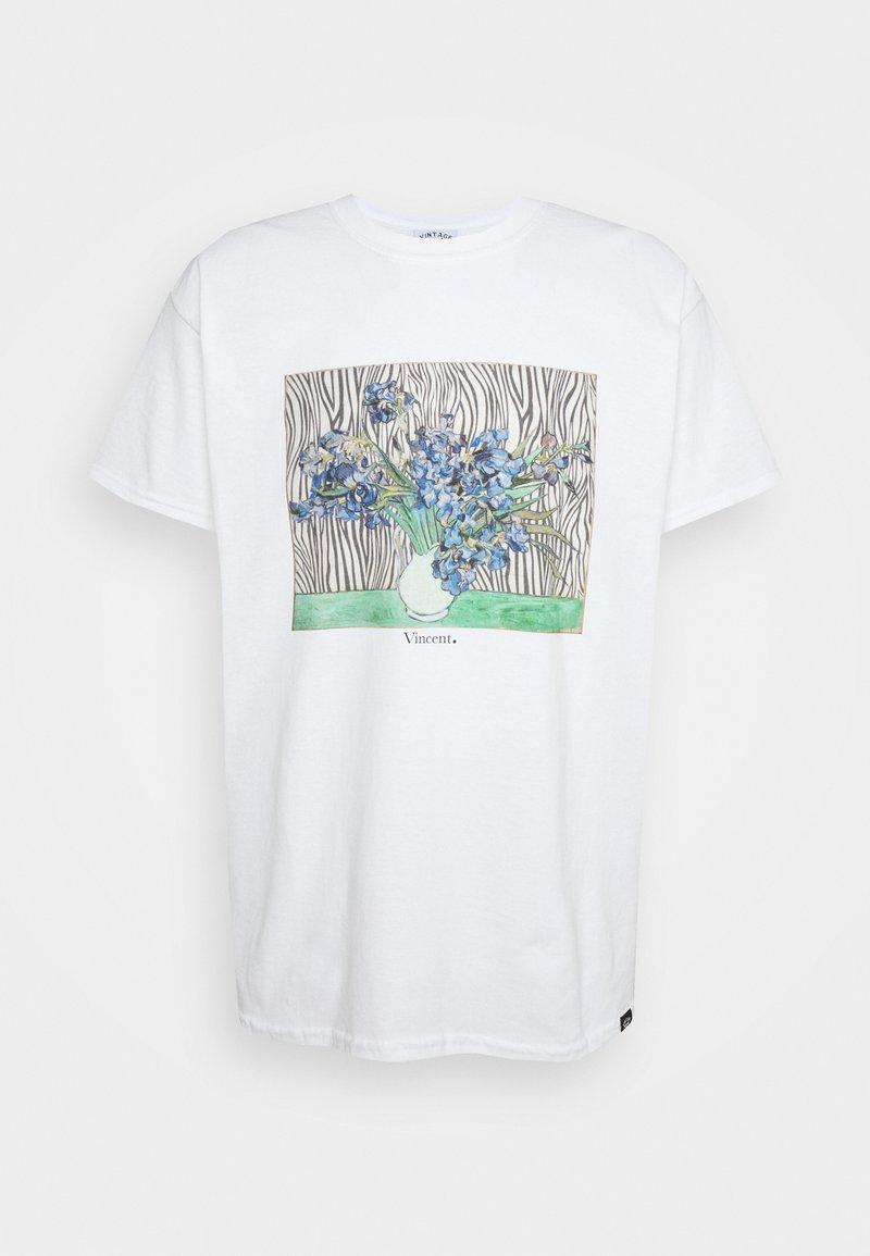 Vintage Supply - VINCENT FRONT PRINT TEE UNISEX - Print T-shirt - white