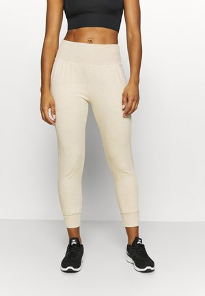 FLOW HYPER 7/8 PANT - Pantalones deportivos - oatmeal/heather/light orewood brown