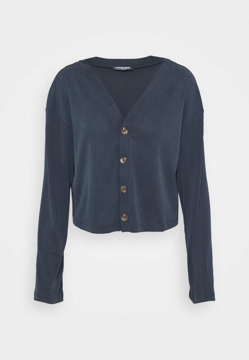 Fashion Union - CLOVE - Cardigan - blue