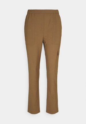 PANTS SMART MEDIUM RISE CROPPED ELASTIC IN WAISTBAND - Cargo trousers - desert camel