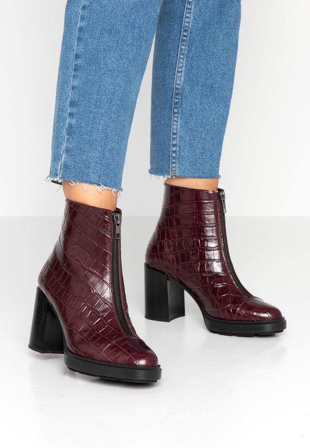 Platform ankle boots - monterrey burdeos