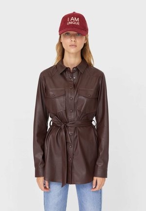 Kunstlederjacke - dark brown