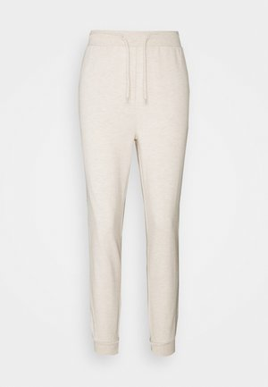 SLIM FIT SWEAT JOGGERS  - Tracksuit bottoms - mottled beige