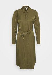 Object - OBJEILEEN DRESS - Blusenkleid - burnt olive - 0