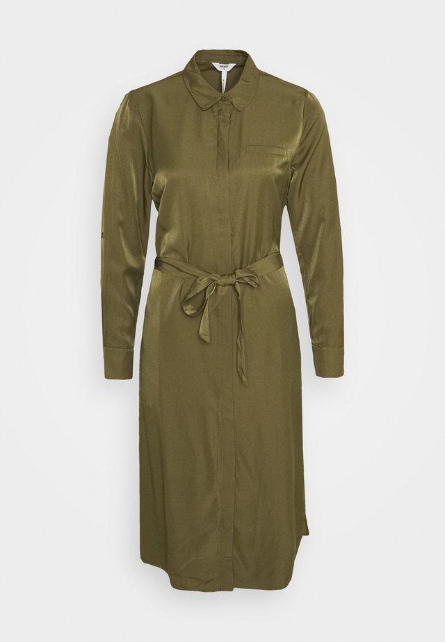 OBJEILEEN DRESS - Shirt dress - burnt olive