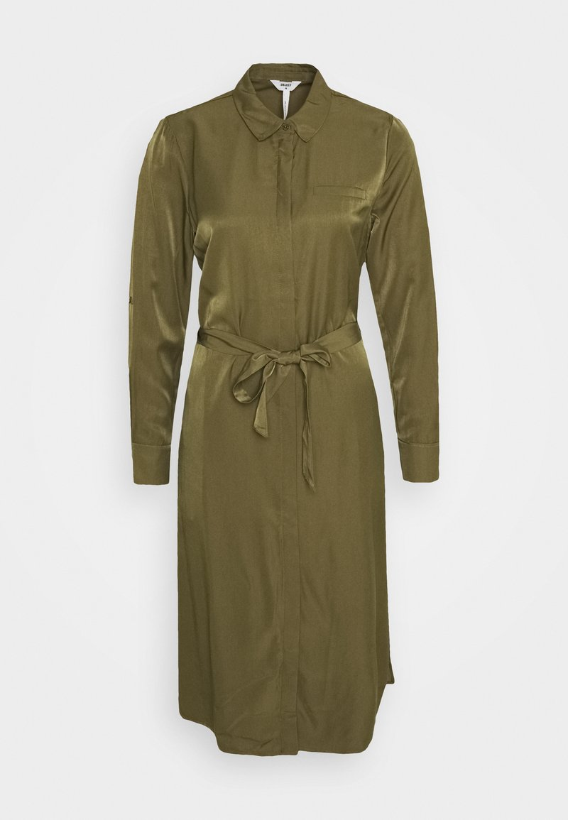 Object OBJEILEEN DRESS - Blusenkleid - burnt olive/khaki Js7r0d