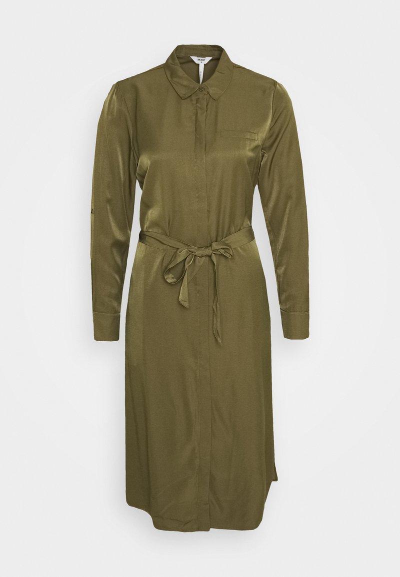 Object - OBJEILEEN DRESS - Blusenkleid - burnt olive