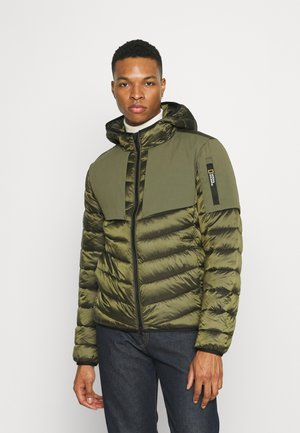 HOODED JACKET WITH FILLER - Jas - moss