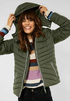 MIT ZIPPER - Winter jacket - grün