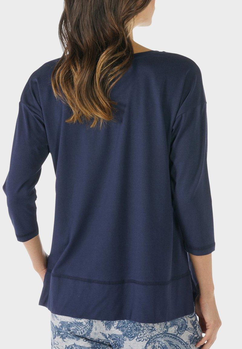mey - HOMEWEAR SHIRT SERIE NIGHT2DAY - Pyjama top - night blue