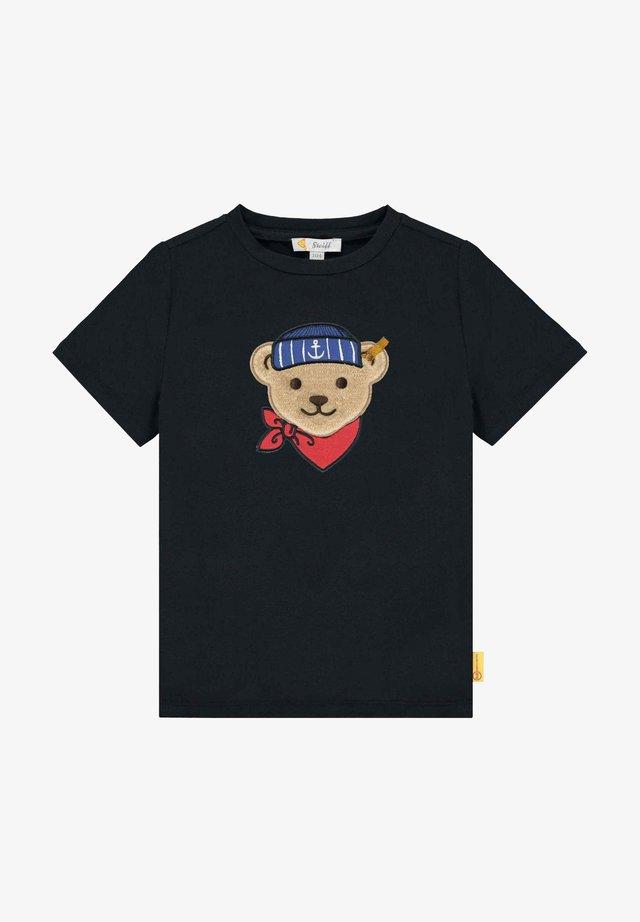 MIT TEDDYBÄR MATROSE - T-shirt print - steiff navy