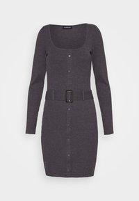 Even&Odd - Jumper dress - mottled dark grey - 4