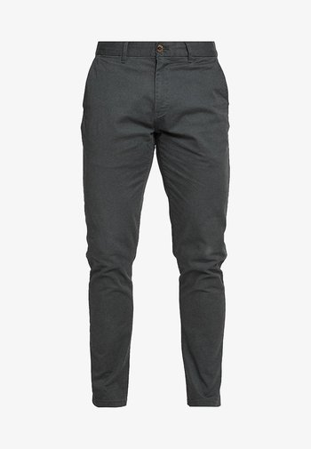 STUART CLASSIC SLIM FIT - Chino kalhoty - charcoal