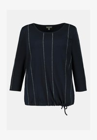 GINA LAURA - Long sleeved top - navyblau - 2