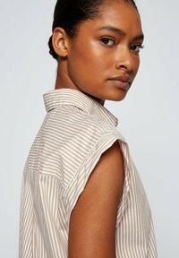 BOSS - BEMIRTA - Button-down blouse - beige - 4