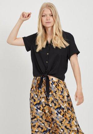 BINDEDETAIL - Button-down blouse - black