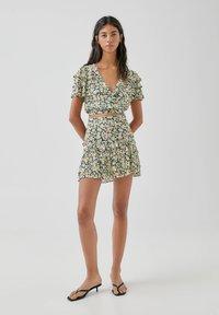 PULL&BEAR - A-line skirt - multi-coloured - 1