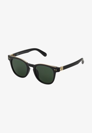 SUNGLASSES ITALY WITH CHAIN - Sunglasses - black/gold-coloured