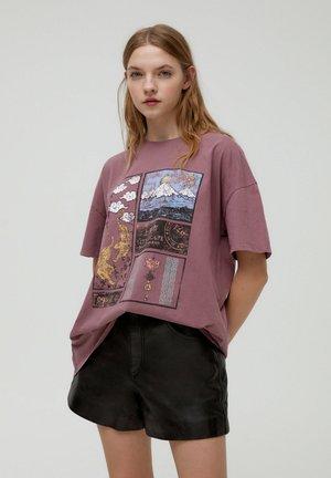 TIGERMOTIV - Print T-shirt - rose