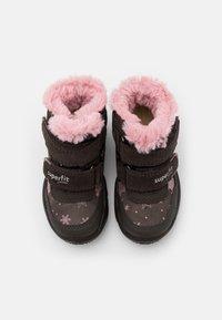 Superfit - GLACIER - Winter boots - braun/rosa - 3