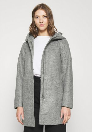 JDYTASHA HOOD JACKET  - Classic coat - light grey melange