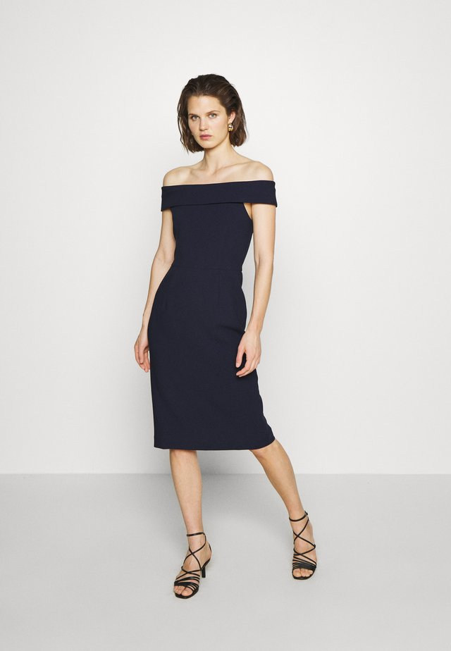 CARMEN DRESS - Robe fourreau - navy blue