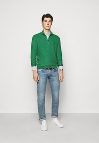 Polo Ralph Lauren - LONG SLEEVE  - Stickad tröja - potomac green heather - 1