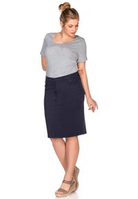 Sheego - Denim skirt - marine - 1
