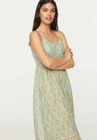 OYSHO - TURQUOISE INDIAN COTTON NIGHTDRESS - Day dress - turquoise - 2