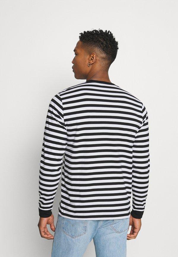 Carhartt WIP SCOTTY POCKET - Bluzka z długim rękawem - black/white/czarny Odzież Męska QBBP