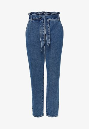 HIGH WAIST ONLJANE HW BUTTON PAPERBAG BELT - Jeans Relaxed Fit - medium blue denim