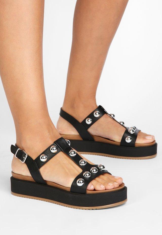 Sandales à plateforme - black blk