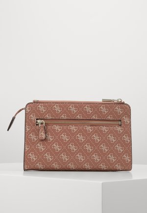 CAMY DOUBLE ZIP CROSSBODY - Skulderveske - cinnamon/multi