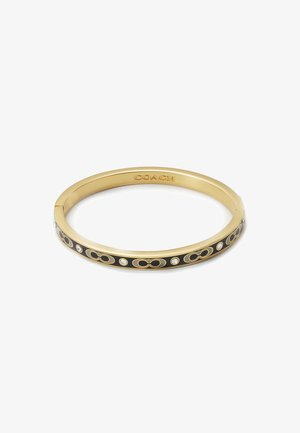 HINGED BANGLE - Armbånd - gold-coloured/black