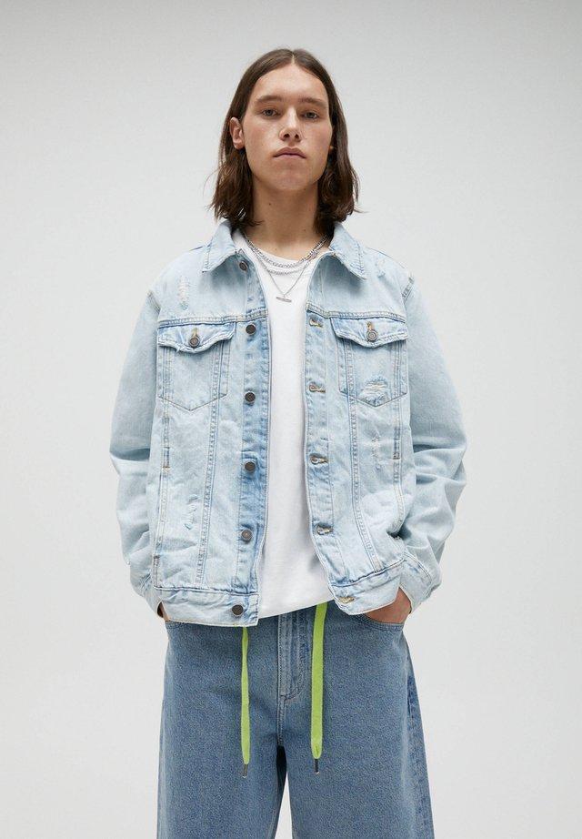 Spijkerjas - blue-grey