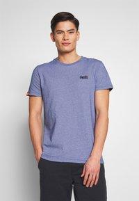 Superdry - VINTAGE CREW - Basic T-shirt - cobalt - 0