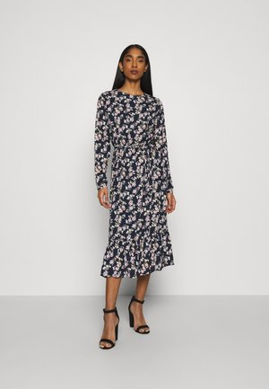 VIDOTTIES MIDI DRESS - Day dress - navy blazer/pink