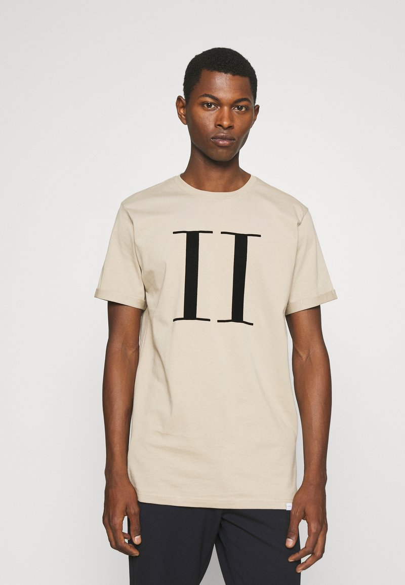 Les Deux - ENCORE  - Print T-shirt - dark sand/black