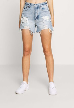 Denim shorts - classic vintage destroy
