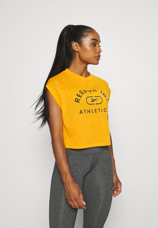 WOR SUPREMIUM LOGO TEE - T-shirt print - semi solar gold